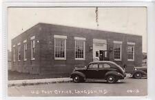 US POST OFFICE, LANGDON: North Dakota USA postcard (C16899)