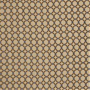 Fabric Robert Allen Beacon Hill Anillos Teak Embroidered Tapestry Circles JJ40