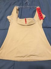 NWT Spanx 1814 Slimplicity Open Bust Boost Cami Camisole beige nude shaper MED