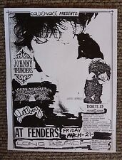 Guns & Roses Early March 21st 1986 Fenders Concert Flyer Poster COPY #10
