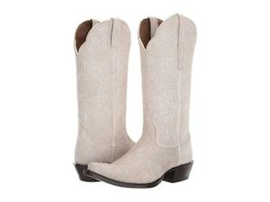 Ariat 244022 Womens Sterling Cowboy Western Boots Crackled White Size 6.5 B