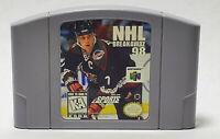 NHL Breakaway 98 Standard Edition (Nintendo 64, 1998) Cart Only