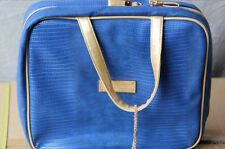 Royal Edelweiss Blue W/ Gold Handle Cosmetic Bag