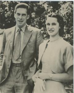 Le comte de Harewood et sa fiancée Vintage silver Print,George Henry Hubert La