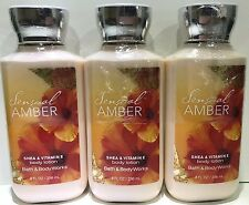 3 Bath & Body Works Sensual Amber fragrance Body Cream lotion