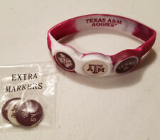Wrist Skins Golf Ball Marker Bracelet,Texas A&M Aggies,Magnetic,Size Medium