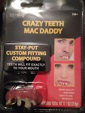 Crazy Mac Daddy Teeth - Fake Reusable Crazy Teeth - Great Theatrical Makeup Prop