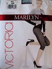 LEGGING COURT CORSAIRE S/M bleu chiné drapé brillant Victoria MARILYN femme NEUF
