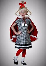Xmas Girl Whoville Cindy Lou Costume Gift for Children Outfit Kid Child L Large
