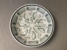 "Vintage Roma INC Handpainted Italy Star Pasta Bowl Green 8 3/8"" diameter"