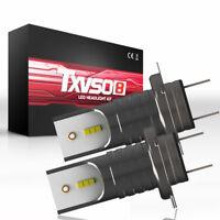 2x 55W H7 Car LED Headlight Conversion Kit 26000LM 6000K White Bulb CSP Chip