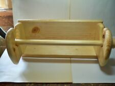 Handcrafted Pine Wood Paper Towel Holder with Shelf (screws added with item)