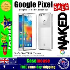 Google Pixel Clear Soft Gel TPU Flexible Clear Fitted Case Cover Skin Slim Tough