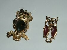 OWL BROOCHES - DOUBLE AS PENDANTS