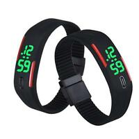 Vogue Mens Womens LED Watch Rubber Date Sports Bracelet Digital Wrist Watch