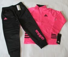 ADIDAS Athletic Track Jacket & Pants Set, Girl's Size 4T Pink/Black