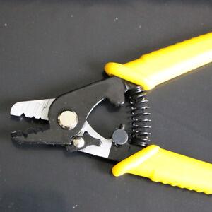 Clamp Fiber Stripping Pliers Tri-Hole Fiber Optic Cable Stripper Wire stripper