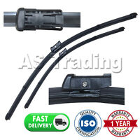 """FOR AUDI A4 MK3 2007- DIRECT FIT FRONT AERO WINDOW WIPER BLADES PAIR 24"""" + 20"""""""