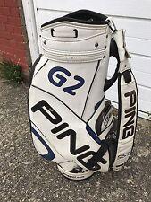 PING G2 S59 WHITE & BLACK CRAZ-E GOLF CLUB TOUR BAG