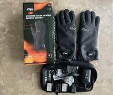 Outdoor Research Stormtracker Heated Sensor Gloves, Medium Black