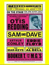 "Otis Redding / Sam and Dave Hammersmith 16"" x 12"" Photo Repro Concert Poster"