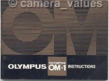 Olympus OM-1 (Early) Instruction Book, More OM1 Camera Manuals & Guides Listed