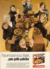 Publicité ancienne pain grillé Pelletier 1970 issue de magazine