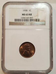 1930 LINCOLN PENNY MS 63 RB