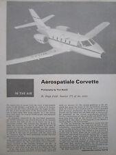 1/74 ARTICLE 6 PAGES AEROSPATIALE CORVETTE EXECUTIVE AIRCRAFT CUTAWAY ECORCHE