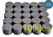 100 PCS Round Disc Ceramic Industrial Magnets Strong for Hobbies Crafts Science