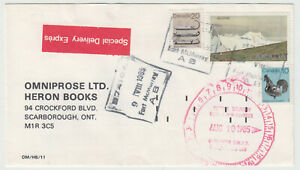 Fort McMurray, Alberta 1985 POCON cancelled $2.30 special delivery cover