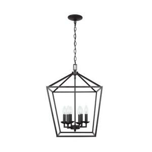 NEW HOME DECORATORS Weyburn 6-Light Bronze Caged Chandelier