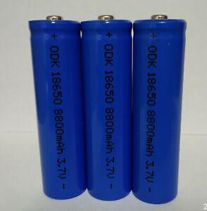 3 batterie pila ricaricabile a litio 3,7 v. 8800 mha / 35 grammi