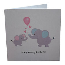 New Big Brother Card New Born Card To My New Big Brother Pink Balloon