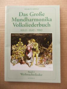 MANGEL Das Mundharmonika Volksliederbuch 2 Songbook Noten Weihnachtslieder