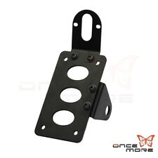 Motorcycle Side Mount License Plate Bracket Kit Mount For Harley Chopper Bobber