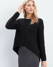 NWT Eileen Fisher Peruvian Organic Cotton Tunic High-Low in Black Size PS #S1118