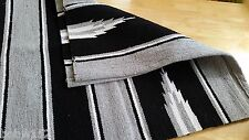 Western Horse Riding Cotton Drill Saddle Blanket Rug Wall Hanging Dog Mat BLUE