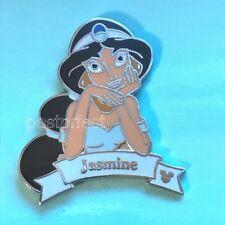 Disney Pin Jasmine Princess Banner Aladdin Hidden Mickey HM Authentic