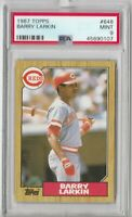 1987 Topps #648 Barry Larkin Rookie PSA 9 Mint HOF Cincinnati Reds rc (107)