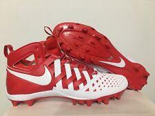 Nike Huarache V Elite Lacrosse Lax Tacos Blanco Rojo Sz 12 [807142-611]