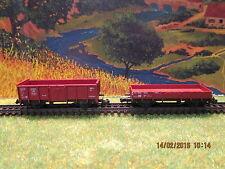 Lot de wagons plat et tombereau fleischmann en échelle N pour locomotive