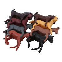 8 Pieces Vintage Play Set Western Lot of Lifelike Horses Animals Plastic Toys WE