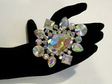Huge Adjustable Crystal AB Rhinestone Ring Drag Queen SSPR-2-AB/S