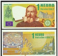 Italy / Padania / Lega Nord - N*euro 1 Banknote from seperatist political group.