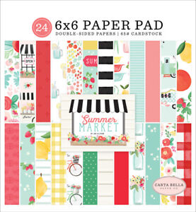 Carta Bella - Summer Market - 6x6 Paper Pad 24 Double-sided Sheets