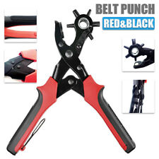 Leather Hole Punch Pliers Puncher Revolving Belt Eyelet Cut Punch Multi-Size