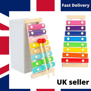 Xylophone Musical Wooden Kids Metal Instrument 8 Notes Toy Big Sale !