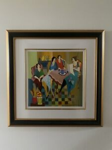 Serigraph in colour titled 'Storytime' (2007) by artist Itzchak TARKAY.
