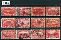 Dealer Dave Stamps Q1-Q12 PARCEL POST, COMPLETE SET, USED, HINGED,  $208 (1186)